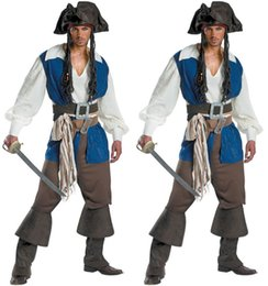 $enCountryForm.capitalKeyWord Australia - Halloween clothes for men pirate uniform captain pirate suit cosplay polyeter high quality