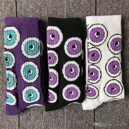$enCountryForm.capitalKeyWord Australia - Korea Harajuku style eyeball thickening towel bottom street skateboard breathable sports tube socks men and women couple socks wholesale