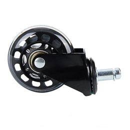 Office Chairs Wheels Australia - 1pcs 2.5 Inch Universal Mute Wheel Replacement Office Chair Swivel Casters Rollers Black 60kg Wheels Furniture Hardware