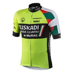 Bicycle Short Men UK - New pro team Euskadi Cycling Jersey men short sleeve Breathable bicycle racing wear road bike shirts mtb maillot ciclismo Y012416