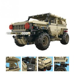 gear play NZ - Building Blocks DIY Car Assemble Toy 2.4GHz 4 Channels Remote Control RC Military Car Truck Tank RC Model 40min Playing Time