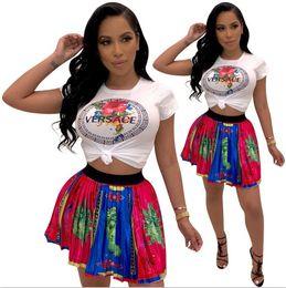 Wholesale shirt dress women for sale – plus size Brand Designer women jogging suit piece set tracksuit crop top leggings outfits sportswear shirt tights sweatsuit sexy clothes