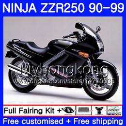 1993 kawasaki fairing online shopping - Bodywork For KAWASAKI NINJA ZZR Matte black hot ZZR250 HM ZZR250R ZZR Fairings