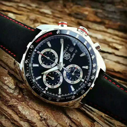 Luxury mens watches automatic chronograph online shopping - 2019 TAG CAR208Z FT6046 Men Luxury Wristwatches Brand TAG Men s Watch Chronograph Male clock Automatic date Mens Dress TOP Watches Relogio