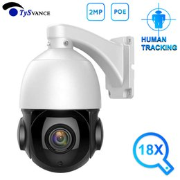 Discount hd ip camera 2mp poe AI Auto Tracking 2MP PTZ IP Camera POE 18X Zoom HD 1080P H.265 AI Human Body Face Zooming Two Way Audio Outdoor IR 60M S