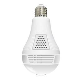 Câmeras de segurança da lâmpada WiFi Panoramic Fisheye sem fio 360 graus Night Vision Mini CCTV Surveillance Home Sistema de Segurança IP Camera em Promoção