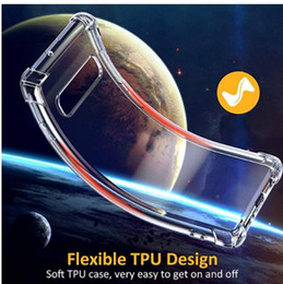 Discount brand drop - 1.0MM Shockproof Airbag Soft TPU Case For Samsung S10 S10e Note 9 M10 M20 M30 A50 A20 A30 A70 Four Corner Drop Gel Blank