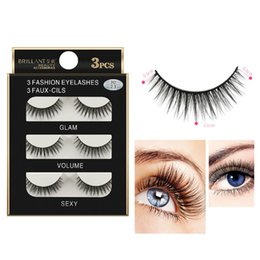 60e9417d866 Fashion Style 3 Pairs 3D Long False Eyelashes Makeup Natural Fake Thick  Black Eye Lashes Clios postios zsmw