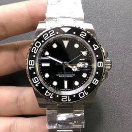 Venta al por mayor de Top General Factory 40 mm GMT Basel 126710 Pepsi 316L Acero Suiza ETA2836 Maquinaria automática Reloj para hombre Super Nightlight