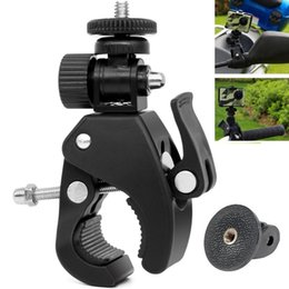 $enCountryForm.capitalKeyWord Australia - High Quality 1 4 Camera DV DSLR Bike Bicycle Handlebar Clamp Bracket Tripod Mount Screw Clip Tripods for Hero5 4 3+ 3 2 1