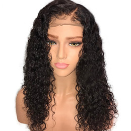 Chinese  10A Brazilian Remy Human Hair Glueless Lace Front Wigs 150% Density Natural Hairline Curly Lace Wig For American manufacturers