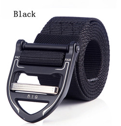 $enCountryForm.capitalKeyWord Australia - 125cm Men Black Colors Belt Mens Designer nylon Belts Ceinture Tactical Cobra Style Buckle Zinc Alloy Outdoor Sports Active Waist Strap