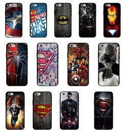 Wholesale Ultra thin USA Comic Hero Pattern Shockproof Soft Back Cover TPU Cell Phone Case Protective Covers For iPhone X XR XS MAX S PLUS