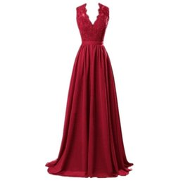$enCountryForm.capitalKeyWord UK - Plus Size Women Summer Dress 2019 Sexy Deep V Neck Sleeveless Red Lace Formal Dress Elegant Maxi Long Party Female Vestidos Y19053001