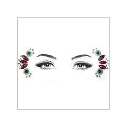 $enCountryForm.capitalKeyWord Australia - DIY 3D Face Gems Bling Diamond Rhinestone Stone Resin Flower Faerie Design Party Stage Hoilday Makeup Gift Crystal Orbit Tattoo Sticker Tool