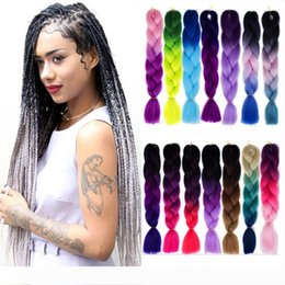 xpression kanekalon braiding hair ombre Australia - Ombre Three Colors Synthetic Xpression Braiding Hair 24inches 100g pack Jumbo Braids Kanekalon Xpression Braiding Hair Crochet Braids Hair