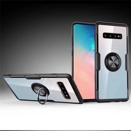 ring holder phone case 2019 - For Samsung Galaxy S10 Plus A20 A50 Huawei P30 Pro Redmi K20 Note 7 Clear Hybrid Magnetic 360 Ring Holder Cell Phone Cas