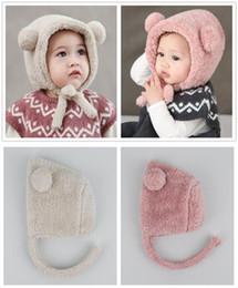 Sombrero caliente del bebé del invierno - Oso lindo Oreja Niño Beanie  Sombreros recién nacidos Felpa Babys Gorra Accesorios de fotografía para  0-1 años 7d0b7297f1f