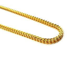 $enCountryForm.capitalKeyWord Australia - Franco Chain Necklace 18K Gold Square Silver Mens Real Stainless Steel Made 8mm