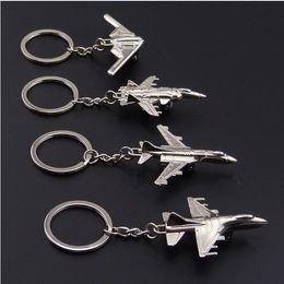 $enCountryForm.capitalKeyWord Australia - Creative Keychain Metal Naval Fighter Aircraft model Aviation Gifts Key ring Model Key chain Air Plane Aircrafe Keyring