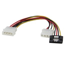 Power sata cable Pins online shopping - 8 inch Molex pin Male to Female Extension Cable w pin SATA Power Splitter Cable for ATX V V Hard Drive Disk HDD SSD