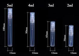 2ml Plastic Bottles Australia - 1000pcs lot 2ml 3ml 5ml Plastic Spray Bottle Wholesale Perfume Bottles Sample Vials Spray Atomizer For Perfume Bottles Atomizer