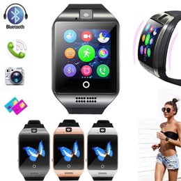 Camera Sms Australia - Bluetooth Smart Watch Q18 With Camera Facebook Whatsapp Twitter Sync SMS Smartwatch Support SIM TF Card For IOS Android