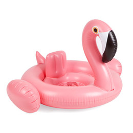 $enCountryForm.capitalKeyWord NZ - Baby Inflatable Flamingo Circle Air Mattress Swimming Swan Pool Float Swimring Seat Boat Summer Water Pool Toys boia flamingo
