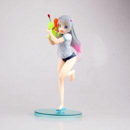 $enCountryForm.capitalKeyWord NZ - Anime Eromanga Sensei Izumi Sagiri Water Gun Ver PVC Action Figure Collectible Model doll toy 19cm