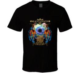 China Mastodon Crack The Skye Cover Art Black White tshirt men's T shirt free shipping suppliers