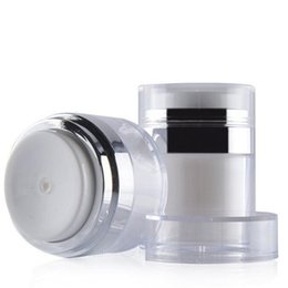 White airless pump online shopping - 15ml ml ml Cosmetic Jar Empty Acrylic Cream Cans White Vacuum Bottle Airless Refillable Container Press Lotion Pump Bottle