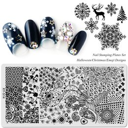 $enCountryForm.capitalKeyWord Australia - 20pcs Set Template Nail Stamping Plates Flowers Halloween Christmas Cartoon 2018 New Arrival Designs Image Transfer SAXYS01-20