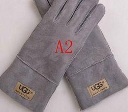 $enCountryForm.capitalKeyWord Australia - 2019 Women winter fur Genuine Leather Luxury original fashion brand gloves Plush rabbit soft warm sheepskin Sexy Half finger WOMEN gloves