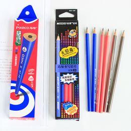 $enCountryForm.capitalKeyWord NZ - 36PCS MARCO 9002 Triangle Rod Pencil 2B 2H HB Corrective Grip Pencil Child FREE 3 Sharpeners