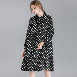 $enCountryForm.capitalKeyWord Australia - 200 kg large size women's fat mm2019 spring new style ageing fashion bow tie dress F678
