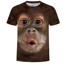 T Shirt Digital Printing Sport Australia - Men's Fashion Tees Hip Hop Street Sport Monkey 3D Digital Print T-Shirts Casual Outdoor Sport Basketball T-Shirt Youth Tees