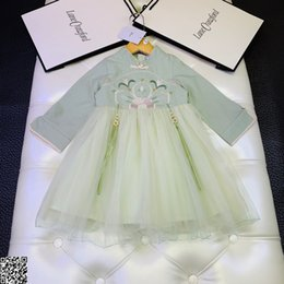 $enCountryForm.capitalKeyWord Australia - Girls dress kids designer clothing autumn classical Chinese style dress stitching fabric skirt fluffy fashion charm elegant dress2019