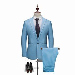$enCountryForm.capitalKeyWord Australia - NIBESSER Men Classic 2 Pieces Blazer& Pants Suit Set Formal Business Blazers Sets Slim Plus Size 3XL Sets For Wedding Party Set