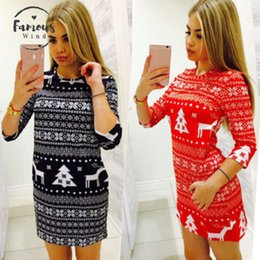 long warm dress jumpers Canada - New Arrival Women Winter Half Slim Vintage Knitted Jumper Christmas Sweater Pullover Knitwear Long Tops Dress Womens Ladies Warm