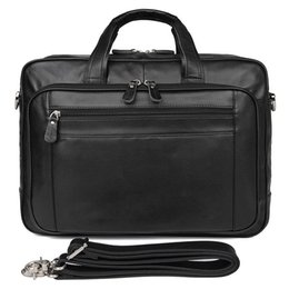 Computers 17 Inch Australia - 17 Inch Men's Leather Business Bag Top Layer Leather Briefcase 725-40 Large Handbag Computer Bag Men's Messenger Briefcase #706174