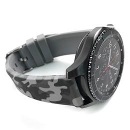 Correa de silicona suave para Samsung Galaxy Watch 46mm Muñequera para Samsung Gear S3 Pulsera 22mm Cinturón de reloj de camuflaje