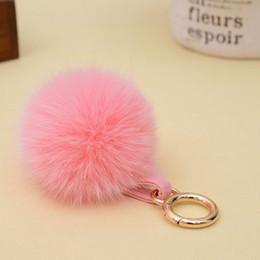 $enCountryForm.capitalKeyWord NZ - New Hot Selling Real Fox Fur Ball KeyChain Plush Fur Pom Pom Key Chain Ball Pendant for Women Bag Accessories EH781