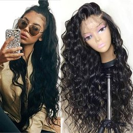 $enCountryForm.capitalKeyWord Australia - Human Hair Wigs for Women Brazilian Human Hair Wigs Full Lace Wigs with Baby Hair Loose Wave Curly Wig