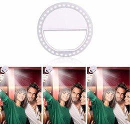 Flashing cell phone covers online shopping - Portable LED Selfie Ring Light For iPhone For Xiaomi For Samsung Huawei Portable Flash Camera cell Phone Case Cover Photography Enhancing