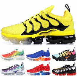 Usa mediUm online shopping - Bumblebee TN Plus Designer Men Sneakers Black Speed Red White USA Photo Blue Top Quality New TN Men Women Sport Running Shoes