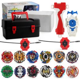 BeyBlade wholesale online shopping - 12pc box Beyblade burst Beyblades Metal Fusion Arena D bey blade Launcher Spinning Top Beyblade Toys For Boy Children