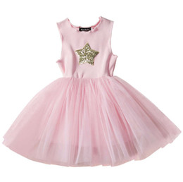 $enCountryForm.capitalKeyWord Australia - New design baby girl's dress INS hot sell children's star vest princess tutus skirts kids sequin boutiques clothes