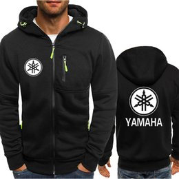 Motorcycle Hoodies For Men NZ - west coast motorcycle for YAMAHA Hooded Cardigan for Men Zipper Comfy Spring Autumn Hoodies Long Sleeve Sweatshirts Male Jackets Tracksuit