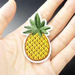 71b360e0953 Embroidered Backpack Patches Australia - Tropical Pineapple Embroidery  Patches For Clothes Sewing Iron On Summer Patch