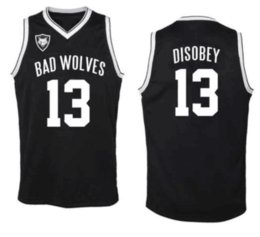 Jerseys Wolf Australia - BAD WOES basketball jersey disobey #13 black jersey color custom made embroidery stiched with size S-5XL